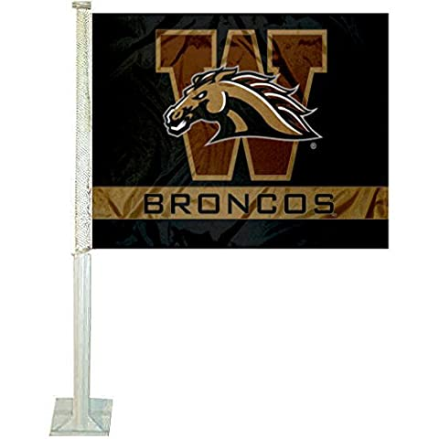 WMU Broncos Car and NCAA Auto Flag