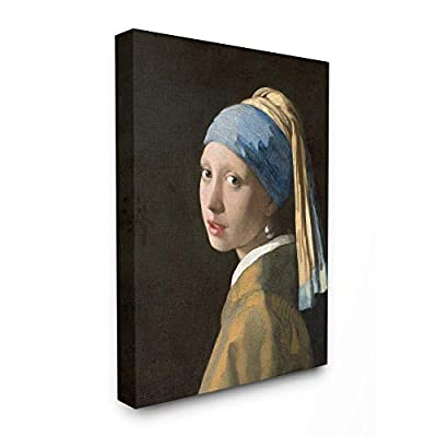 Stupell Industries Vermeer Girl with A Pearl Earring Classical Portrait Painting Canvas Wall Art, 30 x 40, Multi-Color