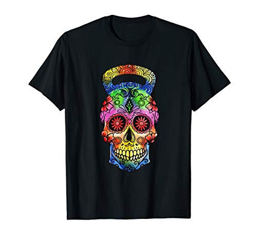 Kettlebell Sugar Skull Weight Lifting Exercise Workout T-Shirt