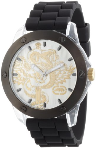 Marc Ecko Men's E10568G1 The Tran 3-Hand Black Polyurethane Strap Watch