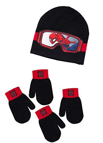 f663206b1e5 Boys Spiderman Winter Hat 2 Pair Mitten Set Little Kid Cold