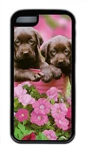 iPhone 6 plus 5.5 Case, Lab Puppies Case for iPhone 6 plus 5.5 TPU Material Black WANGJING JINDA