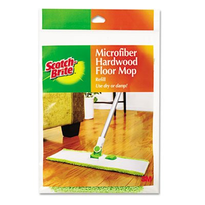 Hardwood Floor Mop Refill, Microfiber, Sold as 1 Each, 12PACK , Total 12 Each by Scotch-Brite