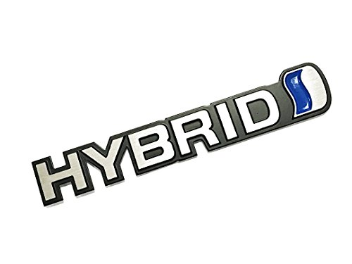 Toyota Hybrid Vehicle (Pimall- Silver Hybrid Wire Drawing Aluminium Sticker Vehicle-logo Badge Emblem for Toyota Available)