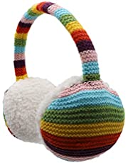 Kids Knit Earmuffs Soft Plush Comfortable Winter Outdoor Ear Warmers for Boys Girls Age 4-16 Years