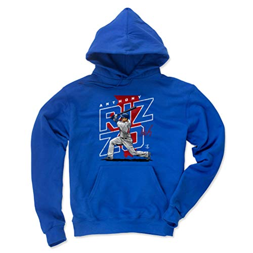500 LEVEL Anthony Rizzo Chicago Baseball Hoodie Sweatshirt (Small, Royal Blue) - Anthony Rizzo Player Map R - Anthony Sweater