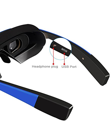 98 inches Virtual 3D Theater Video Game Glasses WIFI Bluetooth 16GB 1080P - Widescreen VR Private Theater by Crow-Quill Studios (Image #4)