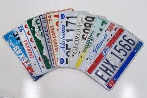 Bundle of 10 License Plates includes Minnesota Texas Ohio Illinois Mississippi Georgia Alabama Arkansas Colorado and Indiana