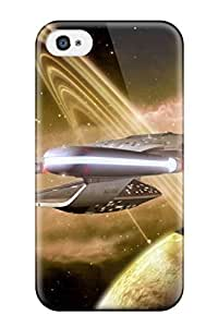 YY-ONE Star Trek Into Darkness Enterprise Phone Case For Iphone 4/4s/ High Quality Tpu Case