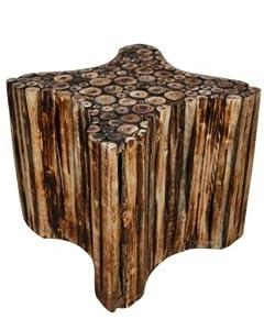 Onlineshoppee® Bloque De Madera Wooden Star Shape Stool..!