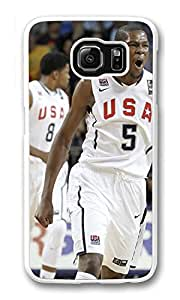 Galaxy S6 Case, S6 Cases, Custom Kevin Durant Galaxy S6 Bumper Case [Scratch Resistant] [Shock-Absorbing] Hard Plastic White Protective Cover Cases for New Samsung Galaxy S6