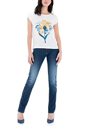 SALSA Camiseta con flor estampada perla
