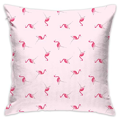 Socira Mari-Orr-Pink-Flamingo-Desktop-1920Ã-1080-wallpaper-wpt10099 Pattern Cushion Cover Pillow Case Home Decor ()