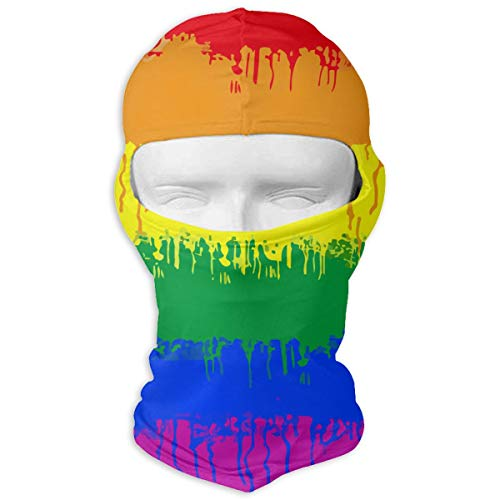 Winter Balaclava Ski Mask -LGBT Gay Lesbian Flag, Men & Women Wind-Resistant Thermal Beanie Hat Headwear Durable Neck Gaiter Protection for Snowboard Sports Hiking -