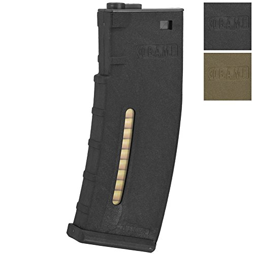M4 Mid Cap (Evike BAMF 190 Rounds Polymer Mid-Cap Magazine For M4 M16 Series Airsoft AEG Rifles - Black - (48423))