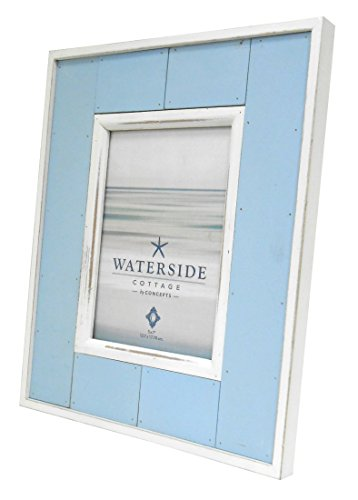 Concepts White And Sky Blue Wood Picture Frame Waterside Cottage 5