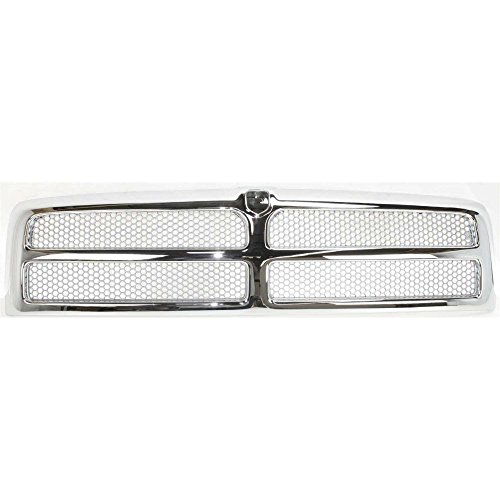 Evan-Fischer EVA17772011585 Grille for Dodge Full Size P/U 94-02 Honeycomb Insert Chrome Shell/Painted-Silver Insert Old Body (2500 Grille)