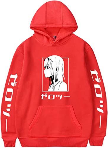 Darling in the Franxx Heren/Jongens Hoodies Code:002 Zero Two Cosplay-kostuum Lange Mouw Hooded Sweatshirt Casual Top