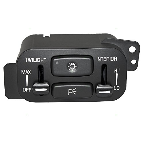 Headlight Headlamp Switch Dimmer Lever Replacement for Buick 25740989 AutoAndArt (Buick Lesabre Headlight Switch)