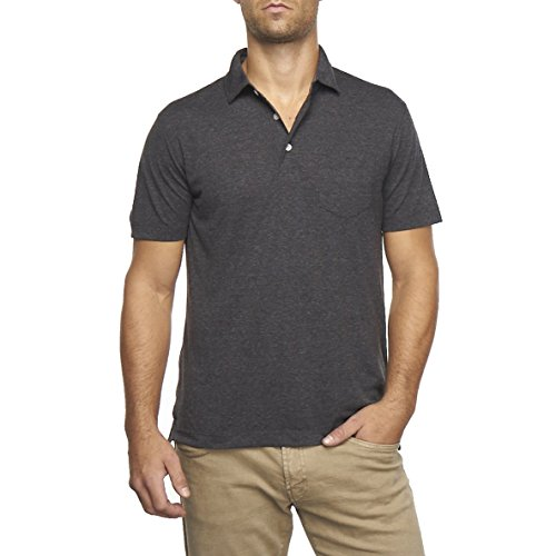 Tailor Vintage Men's Performance Heather Jersey Polo (Black Heather) 9520P950-BLK