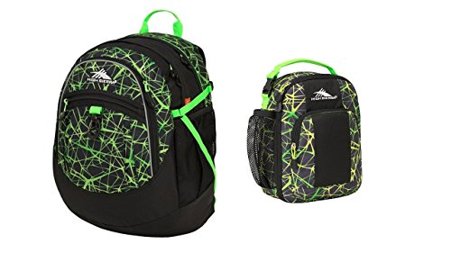 High Sierra (TM) Digital Web/Lime Fatboy Backpack with matching Lunch Tote
