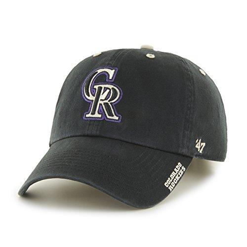 '47 MLB Colorado Rockies Ice Adjustable Hat, One Size, Black