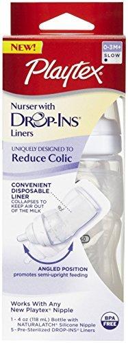 - Playtex Cs05328/05587 4 Oz Premium Nurser Drop Ins Bottle Assorted Colors