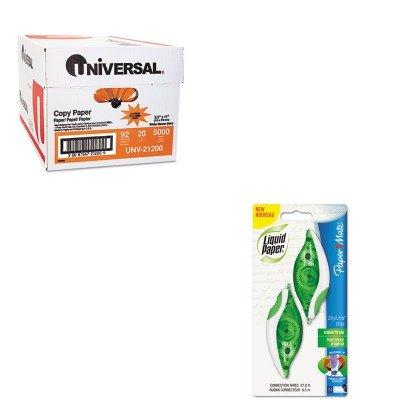 KITPAP662415UNV21200 - Value Kit - Paper Mate Liquid Paper DryLine Grip Correction Tape (PAP662415) and Universal Copy Paper (UNV21200)