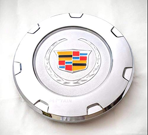 "Tuesnut K650 2007-2014 Escalade Wheel Center HUB Cap Color Crest Silver 7-Spoke 22"" Wheels ONLY Replace # 9597355 (1)"