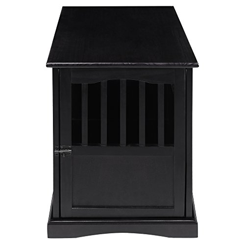 Casual Home Pet Crate End Table, 24-Inch, Black