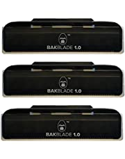 """BaKblade 1.0 """"Bigmouth"""" Back Hair & Body Shaver Refill Replacement Cartridges. 4"""" Extra-Wide Wet or Dry Disposable Razor Blades (3 Razors Included)"""
