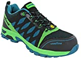 Goodyears Safety S3 Trainers Composite Toe Midsole Mens Lace (UK 9 / EU 43, Green/Multi)