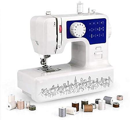 YAMEIJIA Mini máquina de Coser del hogar con 12 máquinas de Coser del zócalo de Velocidad Ajustable de diversas Puntadas Diferentes para el hogar