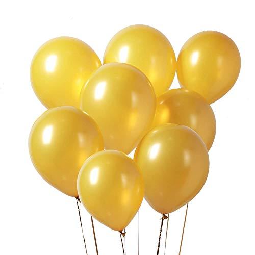 LAttLiv Gold Balloons 100 pcs 12 inch Party Balloons Helium Balloons Gold 50th Wedding Anniversary Decorations, Disco Party Decorations, Hollywood Party Decorations for Gold Birthday, Gold Wedding