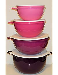 Take Tupperware Thatsa Bowl Set of 4 Pink and Purple opportunity
