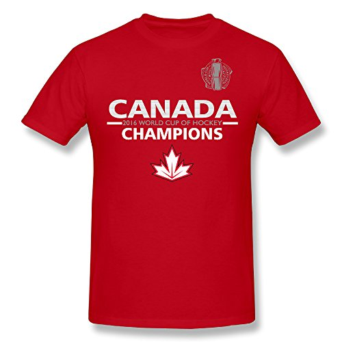 Men's Red Canada Hockey World Cup Of Hockey 2016 Champions O-neck T Shirts,