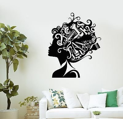 Wall Decal Beauty Salon Hair Stylist Hairdresser Barber Vinyl Stickers VS2979