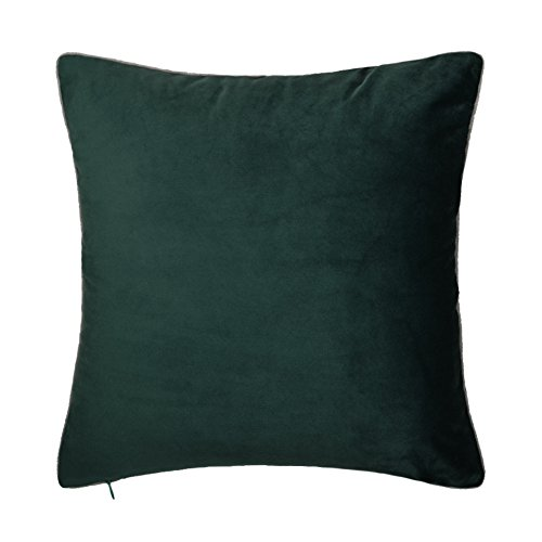 King Rose Throw Pillow Case Soft Euro Accent Cushion Covers for Living Room 18x18 Inches Dark Green (26 Dark Green)