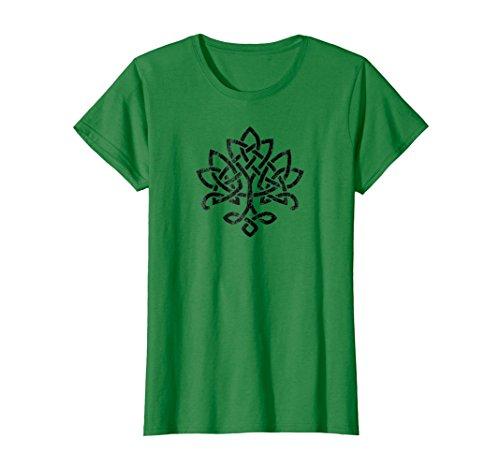 Womens Celtic Knot Tree of Life Tshirt Irish Large Kelly Green (Irish Celtic Design)