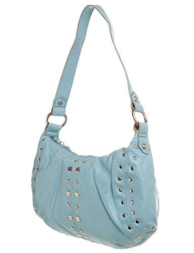 Blue Hobo Handbag Shoulder Silver handbag Toned by women All For Stiched Cute Handbags 4176xq