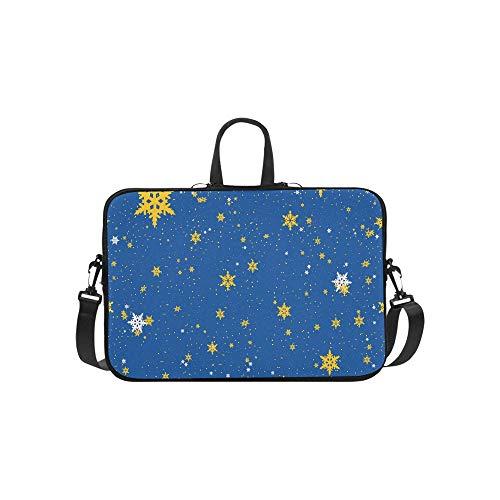 Christmas Light Bulbs On Starry Briefcase Laptop Bag Messenger Shoulder Work Bag Crossbody Handbag for Business -