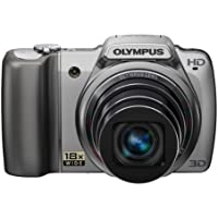Olympus SZ-10 Digital Camera - Silver (14MP, 18x Wide Optical Zoom) 3.0 inch LCD - International Version (No Warranty)