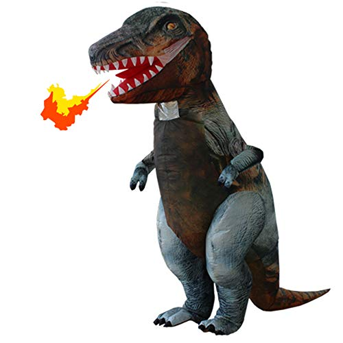 Happy Sky Adult T-REX Costumes Dinosaur Inflatable Costumes Blow Up Suit (Grey) ()