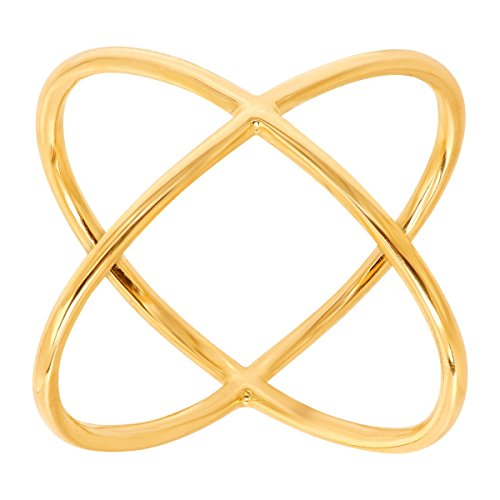 Eternity Gold Criss Cross 'x' Ring in 14K Gold