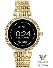 Michael Kors Damski smartwatch Gen 5E Darci z ekranem dotykowym z głośnikiem, funkcją pomiaru tętna, GPS, NFC i powiadomienia ze smartfona