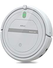 Aiibot Robot Vacuum Cleaner with Strong Suction, Thin Body Design, Low Noise, Pet Hair Clean, Good for Hard Floor and Carpet (white-288)