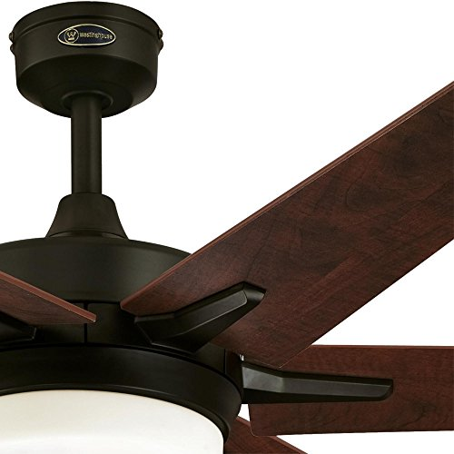 Westinghouse Lighting Remote Control Included 7207800 Cayuga 60-inch Oil Rubbed Bronze Indoor Ceiling Fan, Dimmable LED Light Kit with Opal Frosted Glass, by Westinghouse Lighting (Image #5)