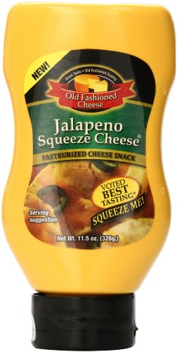 (Old Fashioned Cheese Jalapeno Squeeze Cheese, 11.5 Ounce)