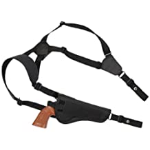 "New Barsony Concealment Shoulder Holster for 5-6.5"" .38 .357 .41 .44 Revolvers"