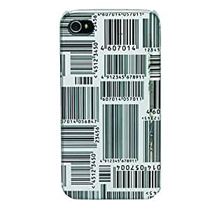 Mini - Bar Code Pattern Back Case for iPhone 5/5S